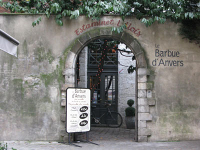 entrée du Barbue d'Anvers